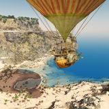 Fantasy hot air balloon Stock Images
