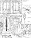 Fantasy house facade Stock Image