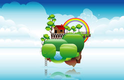 Fantasy house in the sky Stock Images