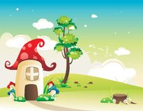 Fantasy house vector Royalty Free Stock Photo
