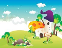 Fantasy house vector Royalty Free Stock Photos