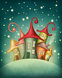 Fantasy houses Royalty Free Stock Images