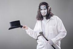 Fantasy Illusionist Performer Bowing Royalty Free Stock Image
