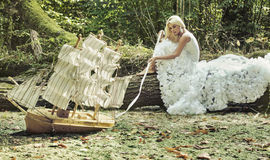 Fantasy image of a beautiful blonde Royalty Free Stock Photos