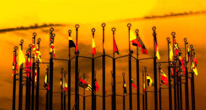 Fantasy image with flags Royalty Free Stock Photography