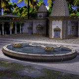 Fantasy Indian Temple. 3D Render of an Fantasy Indian Temple