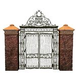 Fantasy iron gate Stock Photo