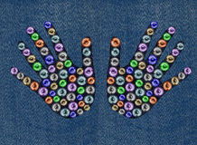 Fantasy jeans royalty free stock images