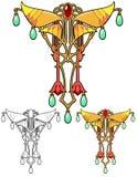 Fantasy jewelry art nouveau design Royalty Free Stock Photo