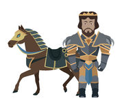 Fantasy Knight Character Vector Illustration. Stock Images