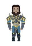Fantasy Knight Character Vector Illustration. Stock Photo