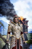 Fantasy knight paladin. 3D render fantasy illustration Stock Photography