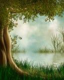 Fantasy lake Royalty Free Stock Images