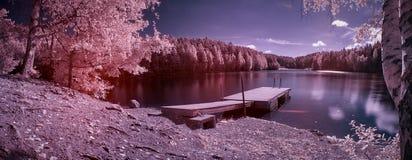 Fantasy lake panorama Royalty Free Stock Image