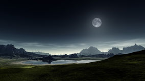 Fantasy landscape. An image of a nice fantasy landscape Royalty Free Stock Images
