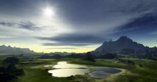 Fantasy landscape Royalty Free Stock Images