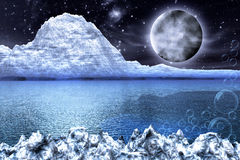 Fantasy whitde frozen Landscape Stock Images
