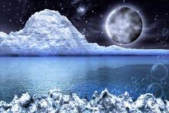 Fantasy whitde frozen Landscape stock images
