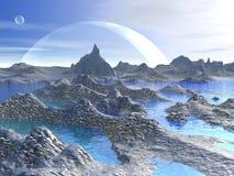Fantasy landscape - 3D render Stock Photography
