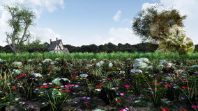 Fantasy Landscape Daytime Stock Photo