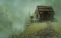 Fantasy landscape. Fairy tale royalty free illustration