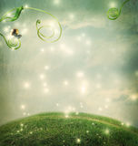 Fantasy landscape with small snail Stock Photography