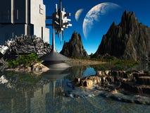 Fantasy landscape Royalty Free Stock Image