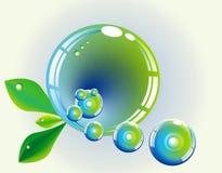 Fantasy leaf sphere Stock Photo