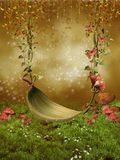 Fantasy leaf swing Stock Photo