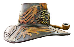 Fantasy leather hat Stock Images