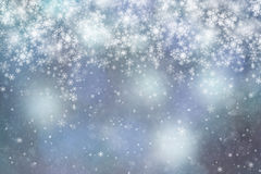 Fantasy light blue colored abstract snowfall copy space backgrou Royalty Free Stock Photography