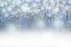 Fantasy light blue colored abstract snowfall copy space backgrou Stock Photo