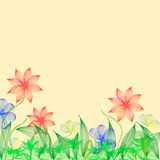 Fantasy light flowers Royalty Free Stock Photo