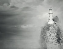 Fantasy lighthouse Stock Image