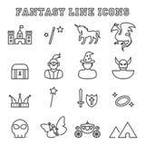 Fantasy line icons Stock Photography