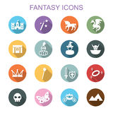 Fantasy long shadow icons Royalty Free Stock Photography