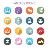 Fantasy long shadow icons Royalty Free Stock Photography