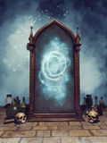 Fantasy magic mirror Royalty Free Stock Images