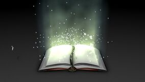 Fantasy and magical book animation.
