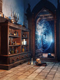 Fantasy magician`s chamber Royalty Free Stock Photos