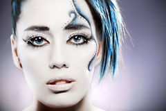 Fantasy make up Royalty Free Stock Images