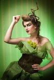 Fantasy make-up. Cool fairly fantasy make-up and hair style Royalty Free Stock Photos