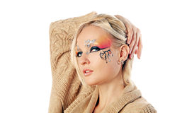 Fantasy make-up Royalty Free Stock Photography
