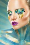 Fantasy make-up Royalty Free Stock Photo