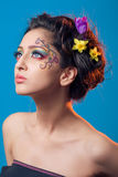 Fantasy makeup. Portrait of a young girl with fantasy makeup Stock Image