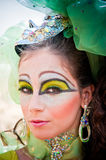 Fantasy Makeup. Haute couture fashion and makeup with a fantasy goddess theme Stock Photography