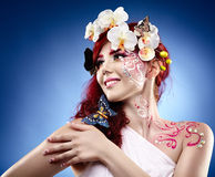 Fantasy makeup Royalty Free Stock Photo