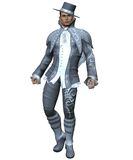 Fantasy male model 1. 3D render of a fantasy male model Royalty Free Stock Images