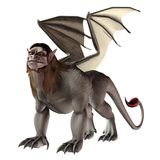Fantasy manticore Stock Photo