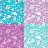 Fantasy marine seamless pattern Royalty Free Stock Photography